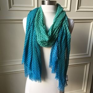 NWT Southern Green and Blue Polka Dot Scarf